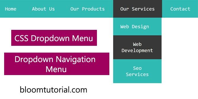 dropdown menu