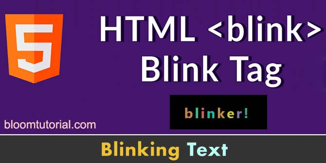 blink text effect kaise banaye