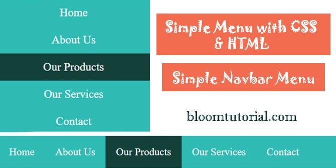 simple navbar menu